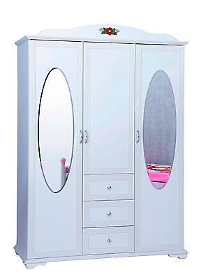Merveilleux ... Kleiderschrank 3 Türig Cindy Prinzessin Landhaus Stil Kinderzimmer +  Spiegel 4