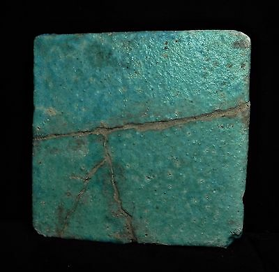 Zurqieh - Ancient Egypt , Ptolemaic Faience Tile With Eye Of Horus.  300 B.c