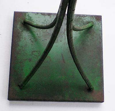 Vintage Ceramic Tile Wrought Iron Bamboo Leg Table #01 4