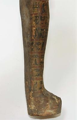 Ancient Egyptian Polychrome Carved Wood Ushabti Lot 291