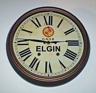 GNSR Great North of Scotland Railway Styled Station Wall Clock, ELGIN Station 3
