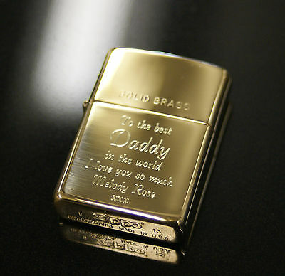 Personalised Zippo Lighters, free engraving, fast free delivery. Genuine Zippo 4