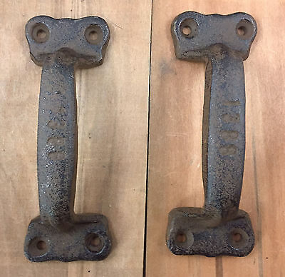 Cast Iron Antique Style Rustic Barn Gate Pull Shed Door Handles Set of 4 New 2