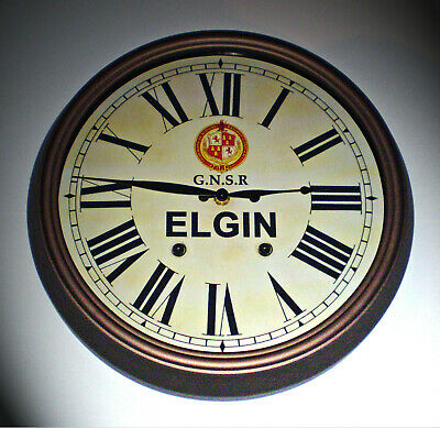 GNSR Great North of Scotland Railway Styled Station Wall Clock, ELGIN Station 2