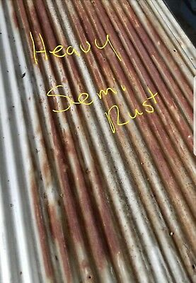 Reclaimed Metal Roofing Corrugated 1 Sq Ft Sample {Full Sheets Available}
