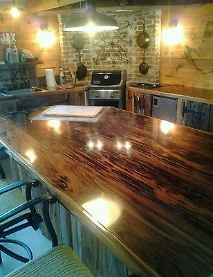 Old Growth Ancient Sinker Cypress Exotic Kitchen Countertops Wood Mancave Sample 2