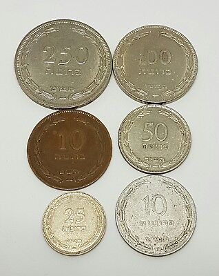 ! 50 Pruta Old Israeli RARE Coin 1949 Money Collection Israel Lot of 45 Coins