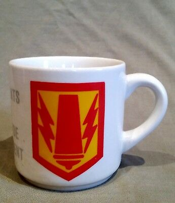 Tasse Cup 41ST FA BDE Career Counselor Hanau US Army Navy Marines Erlensee RAR
