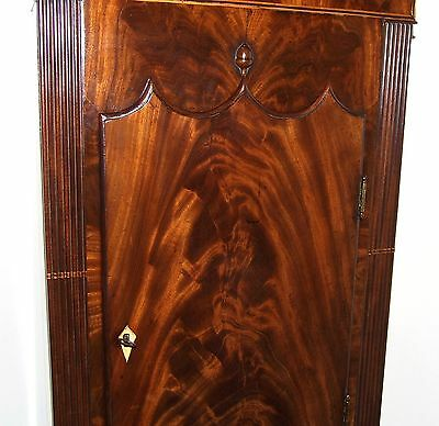 Antique Mahogany Halifax Moon Longcase Grandfather Clock : MADDOCKS FRODSHAM