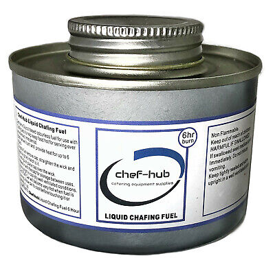 Chef-Hub Box Of 24 Tins 6 Hour Chafing Dish Liquid Fuel For Buffets, Parties Etc 2