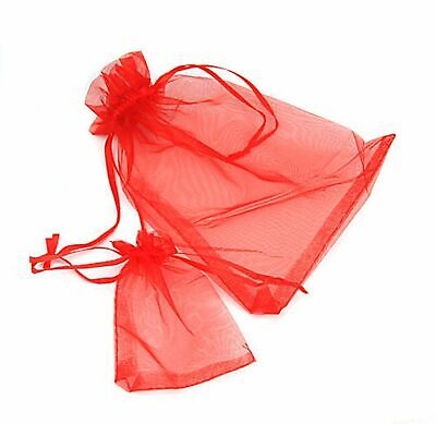 100 Luxury Organza Gift Bags Wedding Favour Chrisamas Jewellery Candy Pouches 11