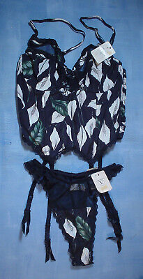 Vintage Valentino 2701 Bustier with Sheer Trim Size 34B in a Calla Lily Print 11