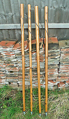 """HIKING WALKING STICKS CANE SOLID THICK CHESTNUT WOOD RUSTIC WALKING STICK 47/"""""""