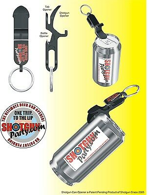SHOTGUN KEY CHAIN | Beer Bong for Cans | MADE IN USA (Orange) 4
