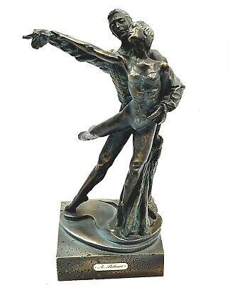 Auro A.Belcari - Escultura Estatua Hombres Mujeres Bailando Bronce Mármol Base 3