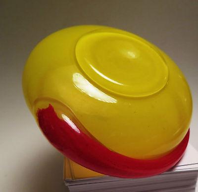 5971:DESIGNGLAS, Kaspar Glas, Handarbeit, MP Collection, Gelb-rotes Glas.
