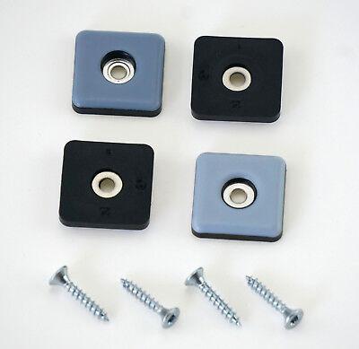 PTFE-Gleiter 40 St/ück Teflon-M/öbelgleiter 25 x 25 mm mit Schrauben