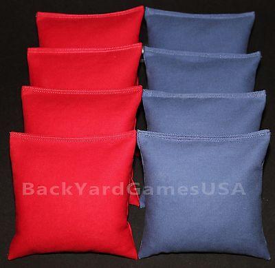 Set of 8 Cornhole Bags ACA Regulation Size Pick Your Colors Top Quality Handmade 4