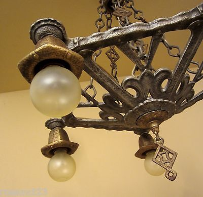 Vintage Lighting circa 1930 Spanish Revival chandelier 2