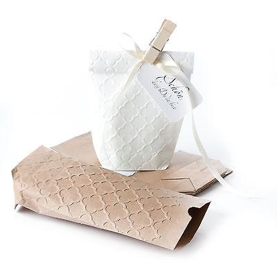 10 Geschenktüten mit PALAST Prägung Papiertüten Kraftpapier Tüten 11x17,5 cm 8