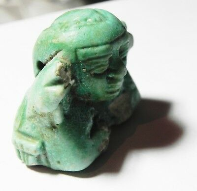 Zurqieh -Asw314-  Ancient Egypt, Faience Fragment Of A Large Amulet. 600 B.c 3