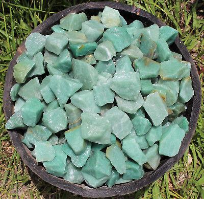 500 Carat Bulk Lot Natural Rough Green Aventurine, Raw Gemstone (100 Grams) 4