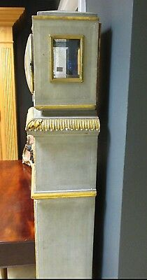Continental Painted Neoclassical Style Regulator Grandfather Longcase Clock 4