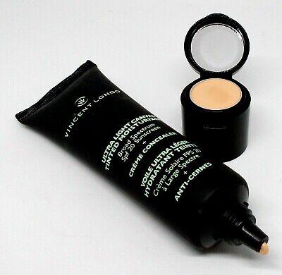 VINCENT LONGO Ultra Light Canvas Tinted Moisturizer SPF20 + Creme Concealer #4 2