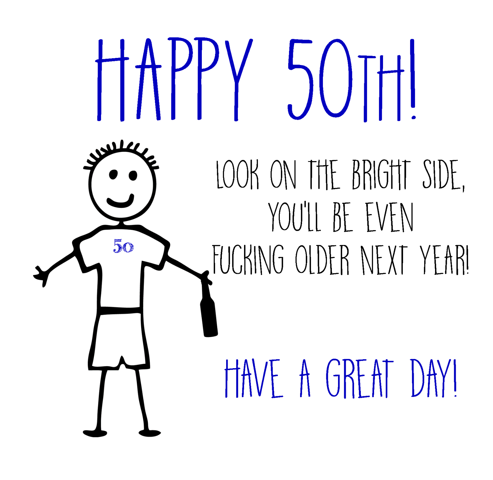 50th Birthday Cards Funny Image collections Free Birthday Cards