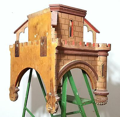 Gothic medieval chateau wall shelf Antique french wood architectural salvage 8