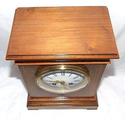 Antique French Hepplewhite Style Mahogany Mantel Bracket Clock CLEANED SERVICED 9