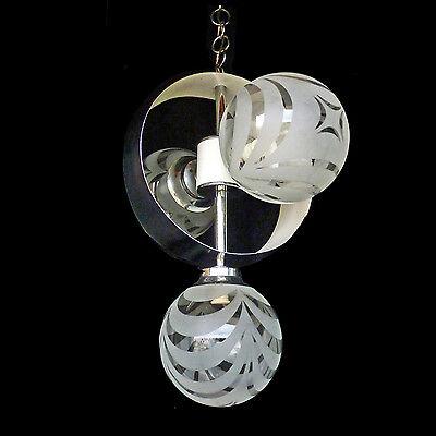 Vintage Mid-Century Italian Chrome Atomic Space Age Sputnik Orbit Chandelier 5