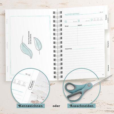 DIY Rezeptbuch zum selberschreiben & gestalten: DIN A5 Kochbuch, Made in Germany 6
