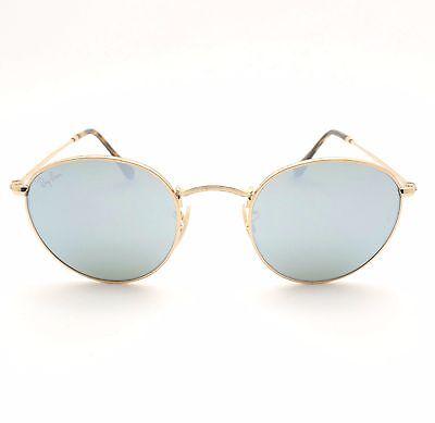 2e49e70be4 ... Ray Ban 3447 N 001 30 Shiny Gold Flat Mirror New Sunglasses Authentic 3