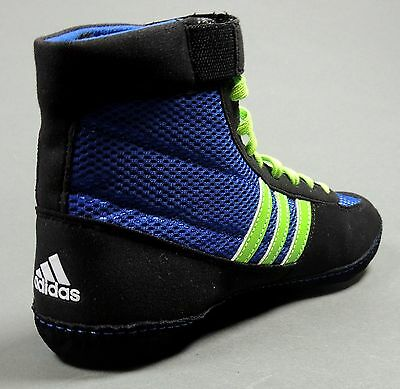 6e0739df4303 ... NEW Adidas Combat Speed 4 Wrestling Shoes M18783 Blue Lime Black Retail   82 8