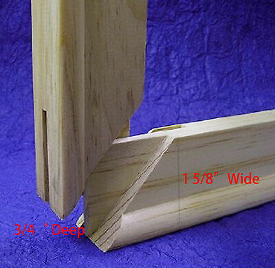 """Pair of  Canvas Stretcher Bars Strips 6 ,8,10,12,14,16,18,20,24,30,36,48,60,72"""" 3"""