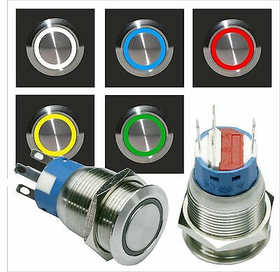 Taster Klingeltaster Klingelknopf Drucktaster Grün mit LED Beleuchtung