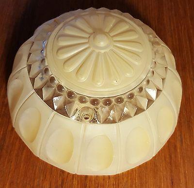 """Vintage Art Nouveau Cream Glass Ceiling Light SHADE fixture 7"""" 3"""