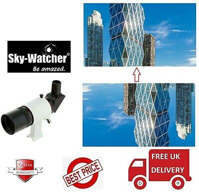 Reino Unido stock Skywatcher 9x50 Derecho en ángulo mira telescópica con soporte 20933