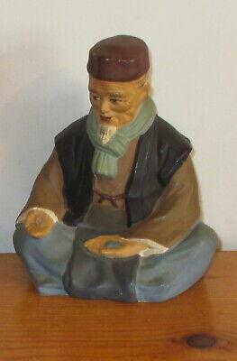 Hakata Urasaki Doll Figurine Handmade Old Man Sitting Holding Food 4