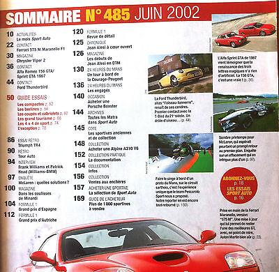 Sport Auto n°485 du 6/2002; Spécial Guide essais 100 % Sport 2