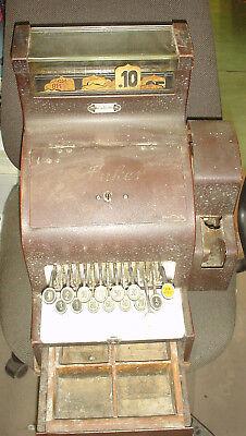 Registrierkasse ANKER Fähnchenkasse R-Mark  ANTIK Bj1937