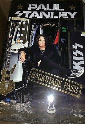 Paul Stanley Backstage Pass Signed Book Kiss + Bonus Event Flyer  Ace Gene Peter 4