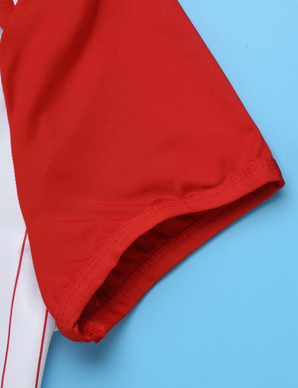 Herren Body Kurzarm Overall Baseball Druckknöpfe im Schritt Strampler Pyjamas 8