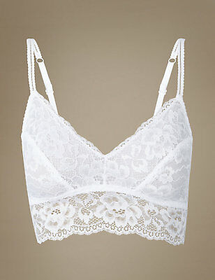 3182300fbcd ... Ex Famous Stores Ladies All Lace Non Padded Bralet Non Wire Collection  M s M S 6