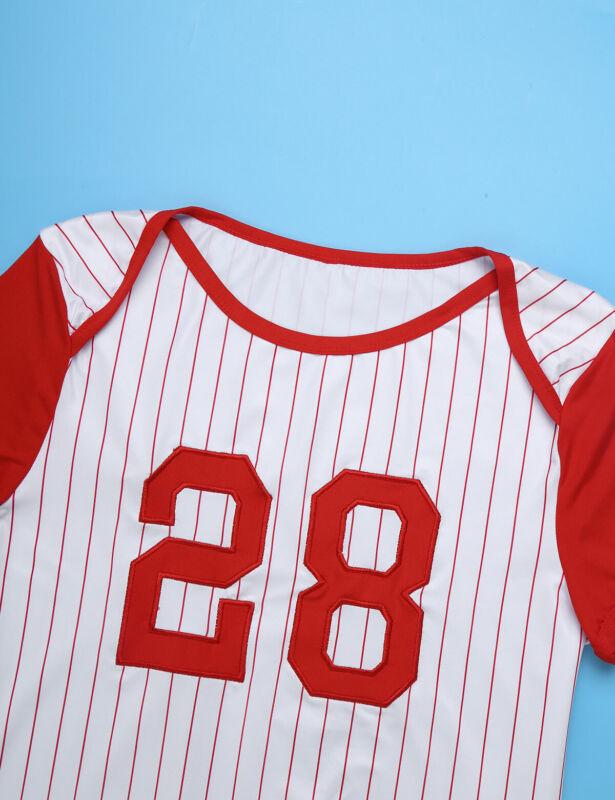 Herren Body Kurzarm Overall Baseball Druckknöpfe im Schritt Strampler Pyjamas 6