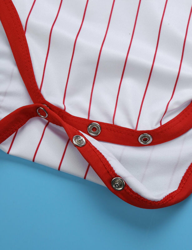 Herren Body Kurzarm Overall Baseball Druckknöpfe im Schritt Strampler Pyjamas 7