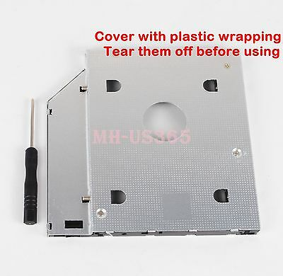 New 2nd HDD HD SSD Hard Drive Caddy Adapter for DELL Vostro 3300 3340 3350 3360