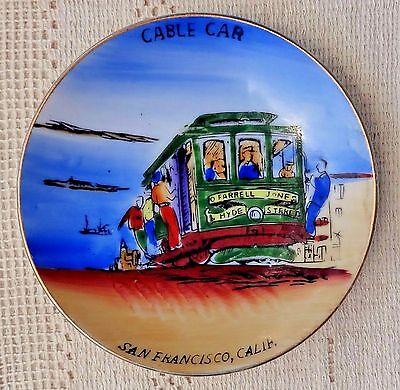 Vintage Souvenir Hand Painted Porcelain Cup & Saucer - San Francisco Cable Car 4