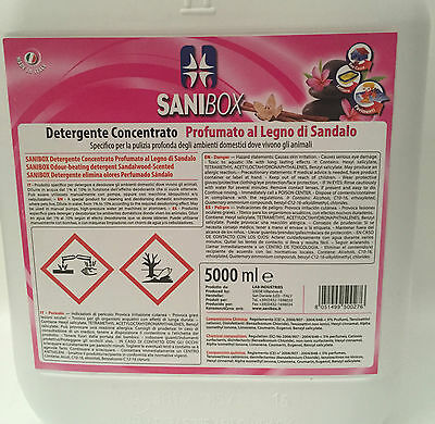 Sanibox in tanica da 5 litri detersivo igienizzante detergente pulizia pavimenti 2